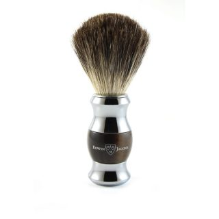 Imitation Horn & Chrome Shaving Brush (Pure Badger)